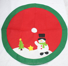 Peronalized Handmade OEM Wholesale Santa Claus Christmas Tree skirt/cover/costume with Santa Claus Snowman and Christmas Tree