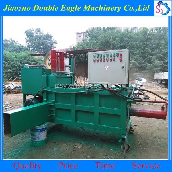 Fully automatic hay straw press hydraulic baling machine/horizontal High quality large packing machine