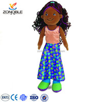 Cute Cheap Stuffed Plush Human African