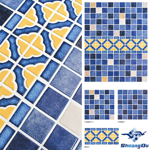 Hottest and Newest Porcelain Mosaic Pool Tile with Nice Pattern Design