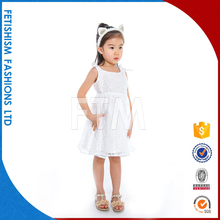 New Design Fashion Kids Pure White Princess Lace Party Wear Teens Little Girls Dresses For Girls