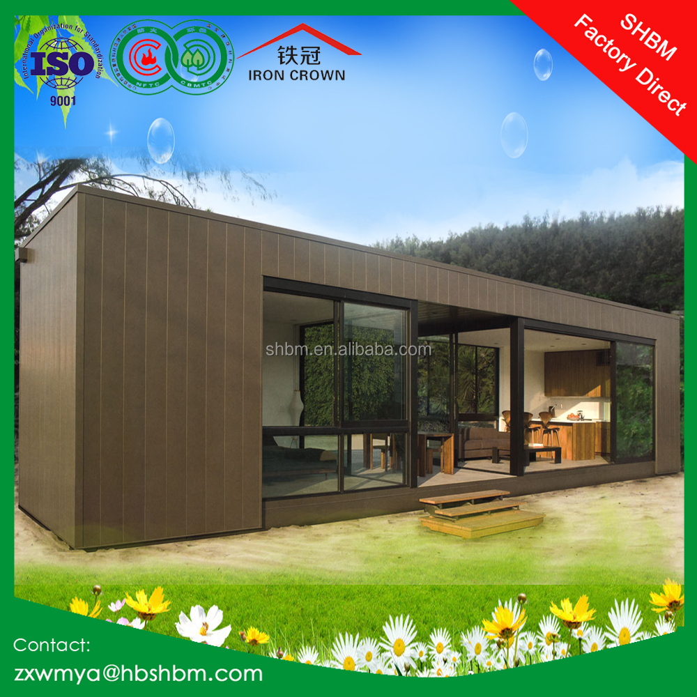 Flat Pack Shipping Container Movable Home Luxury Style Villa Office