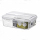 PUYE plastic microwave meal prep containers 2 compartment with spoon lock lid kid tiffin bento crisper bread take away lunch box