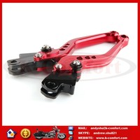 KCM373 Motorcycle Dirt Bike Adjutable Clutch and Brake Levers Spare Parts for K1600 GT/GTL CNC Adjustable Aluminum Alloy red