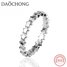 Fashionable real 925 Sterling silver women Star Stackable Ring wholesale