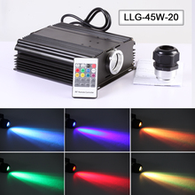 Factory High brightness RGB 45w led fiber optic light engine with warranty for fiber optic light