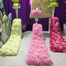 Artificial Silk Rose Wedding Trailing Flower Wall For Desk Table Wall Decoration