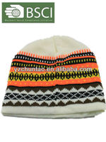 BSCI audit 2014 High Quality Knitted Beanie Cap/Hat with earphone