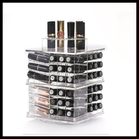 clear acrylic make up organizer with lipstick holder