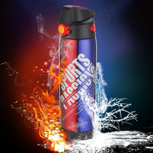 Wholesale durable vacuum flask double wall water bottle stainless steel thermos sport joyshaker drink bottle cap