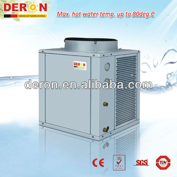 Deron industrial air source high temperature heat pump water heater industrial machinery up to 80C