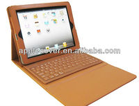 For New iPad iPad3 ipad 4 Bluetooth Keyboard Leather Case