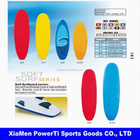 Customized design soft XPE+EPS+HDPE surfboard
