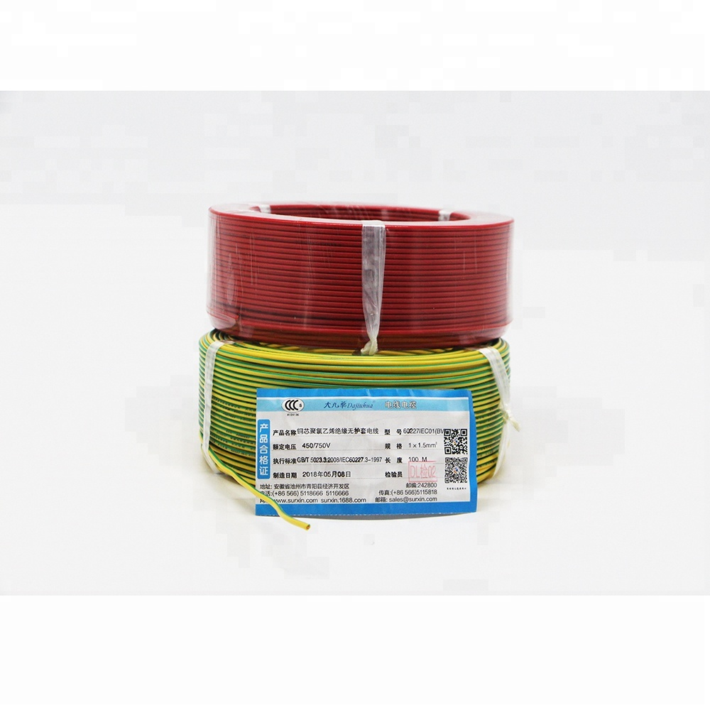 BV single core solid <strong>copper</strong> 2018 Hot Sale Electrical Cable