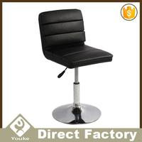 Modern designs chrome base camel stool bar chair