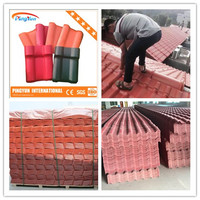 ASA coated PVC roofing tile/quality soundproof synthetic resin roof tile
