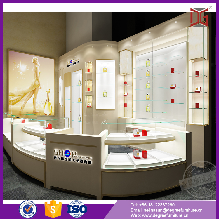 Tempered glass trade show jewelry exhibition table top product display
