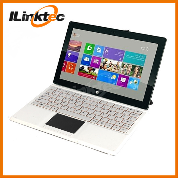 Soft PU leather material case and pogo pin keyboard with touchpad for Win8 tablet pc