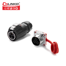 CNLINKO 3 pin male&female wire power connector plug and jacket Connector cable to cable panel mount connector