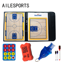 Leather magnetic coaching equipment basketball coach board with zipper