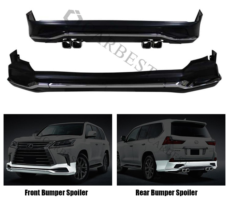 High Quality PP New Front Bumper Body Kits for Lexus Lx570 2016