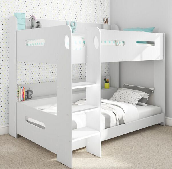More Popular White Kids Children Bedroom Furniture MDF Wood Bunk <strong>Beds</strong> Customized