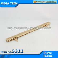 No.5311 purse frame hardware for bag parts with favorable price metal coin purse frame with two D rings