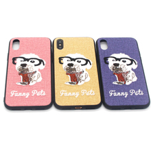 Cute lightweight protective slim teddy dog pet 3D embroidered case cover