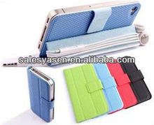 Colorful stand leather case for IPHONE 5 leather cover