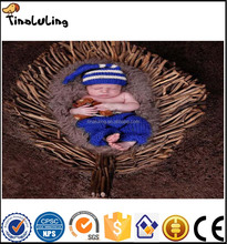 2017 wholesale white and blue new products newborn baby photography props