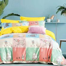 2017 new Customized King Size Printing cotton cat print bed sheet