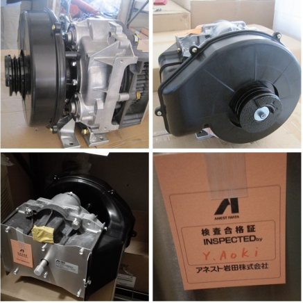 Oil Free Scroll Air Compressor Air End 5Hp made in Japan