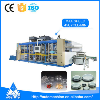 Easy operation automatic biodegradabl plastic lunch box making machine