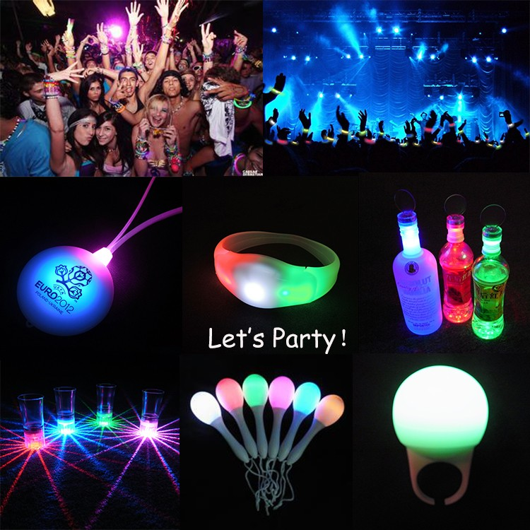 Halloween Christmas party led light bracelet silicon flashing light up wristbands
