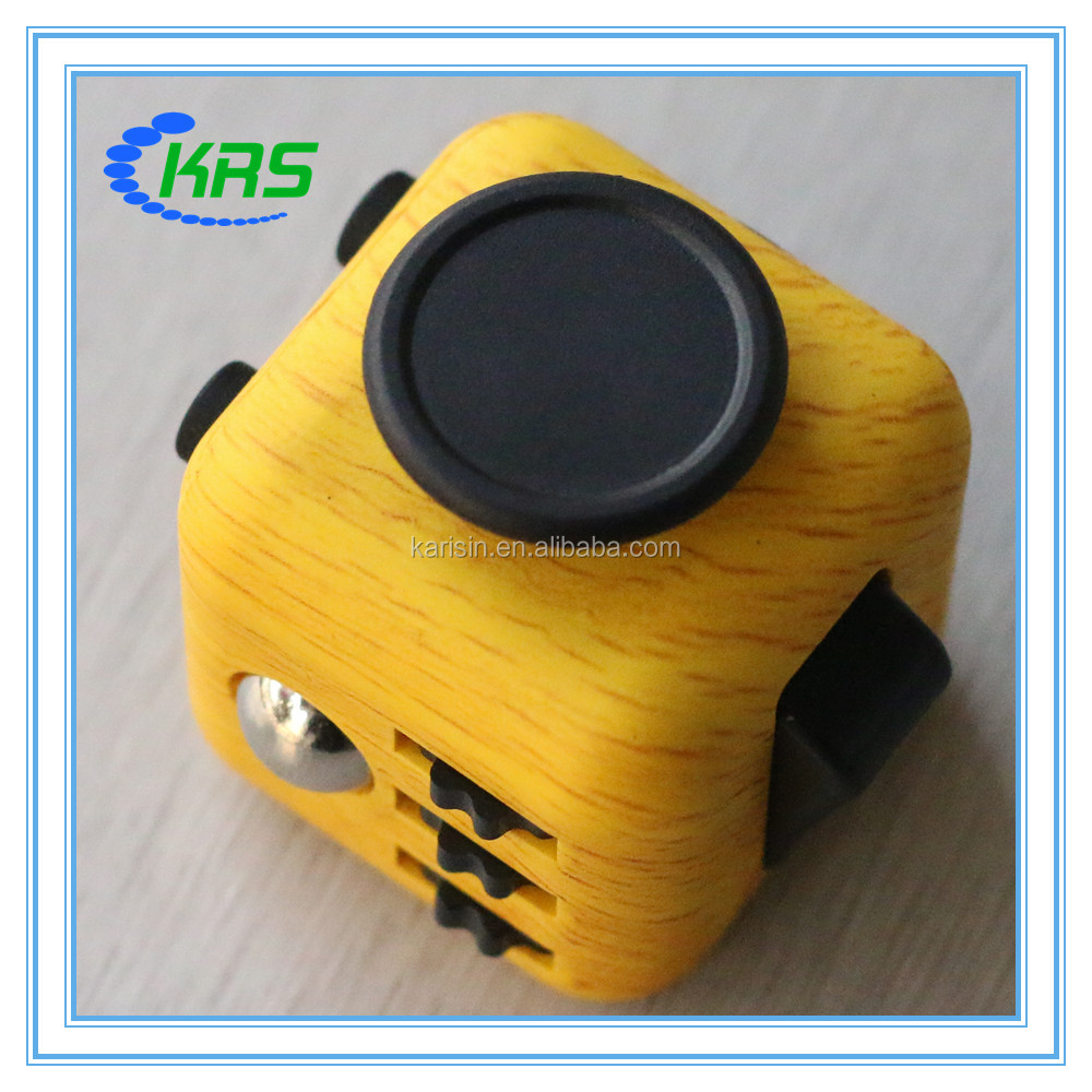 China fidget supplier wholesale New color 6 sides fidget cube