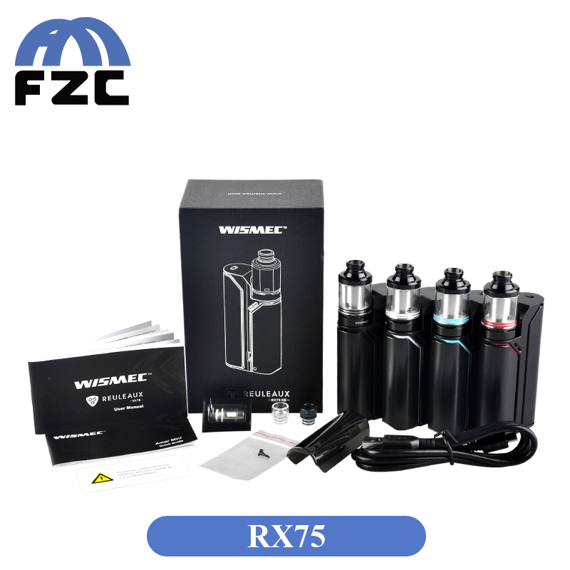 Popular Magnetic Back Cover rx75 orginal wismec 75w box vape rx75w with 75W max output