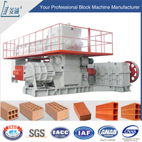 china supplier Lingtong red soil mud fully automatic clay brick block making machine