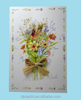 High quality dried flowers greeting cards handmade cards with best price