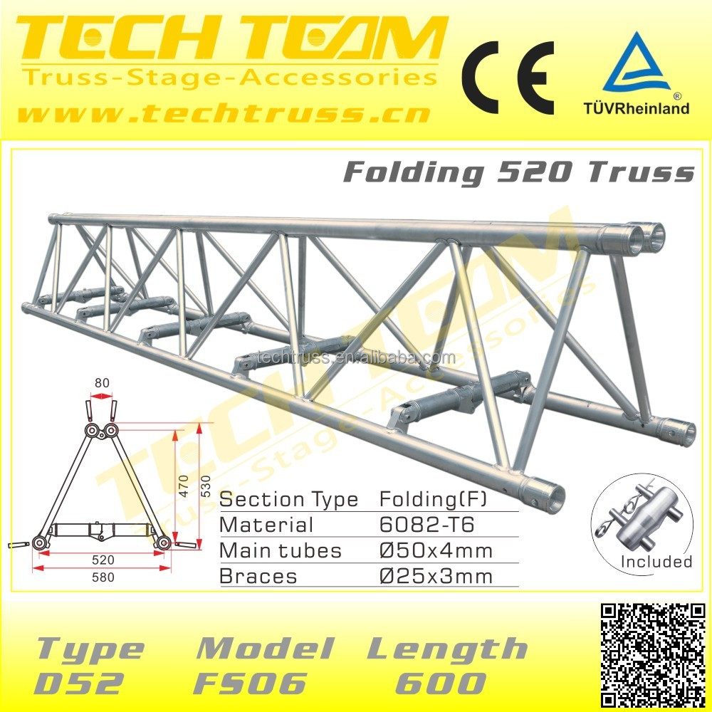 D52 fs12 aluminium heavy duty folding roof truss durable for Buy roof trusses online