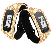 heart rate watch function wholesale LCD digital silicone pedometer watch