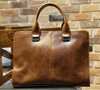 Crazy horse Leather Men Handbag Laptop Tote Briefcase for lawyers