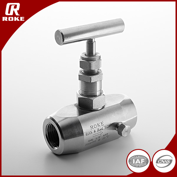 "1/2"" NPT Female Threaded SS304 Needle Valve Hydraulic Valve Block"
