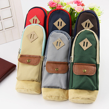 Premium Mini Backpack School bag Pencil Case Canvas Pocket Pen Bag