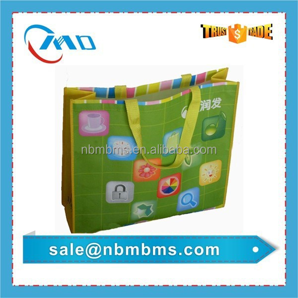 Supermarket Retails Eco Friendly Reusable Laminated Rpet Bag