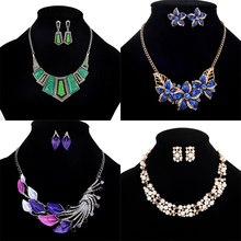 China supplier cheap fashion jewelry sets necklace and earrings for women 2017 Jewelry
