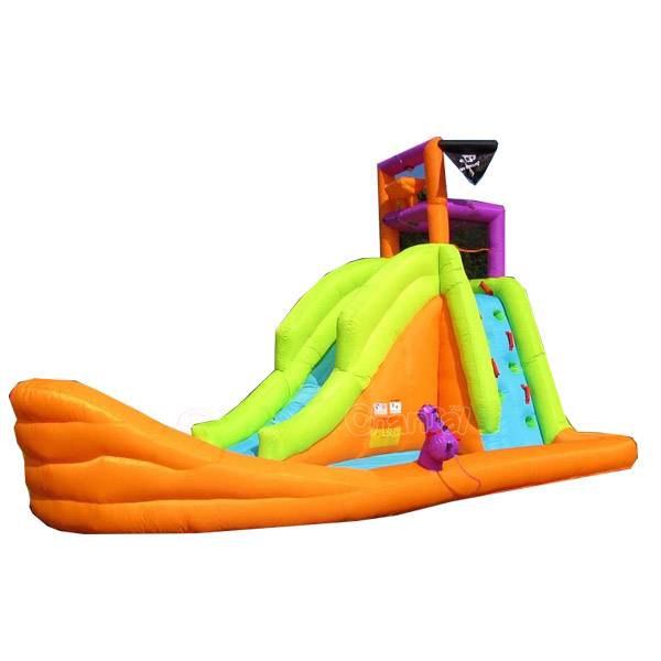 mini pirate inflatable water slide, home use water slides inflatabel for toddlers