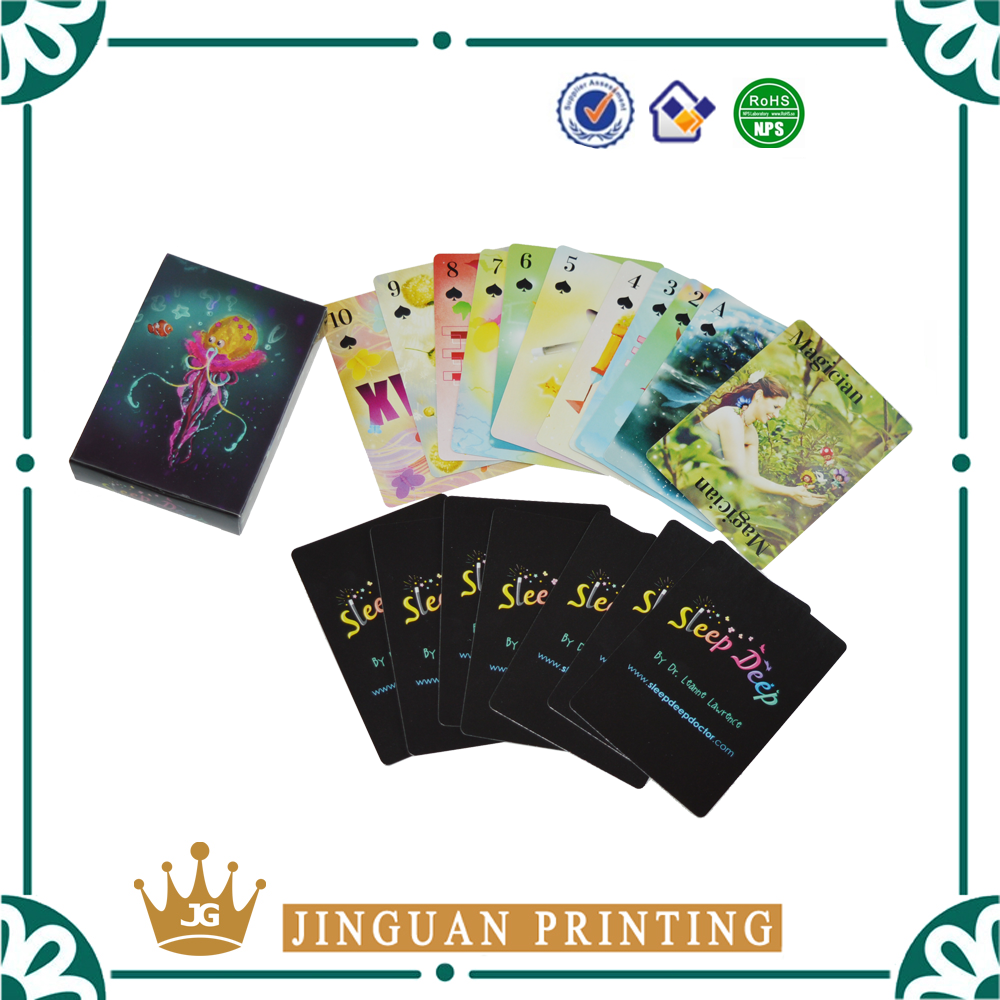 Hot new products for 2016 high quality gaming playing custom printing tarot cards
