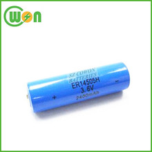 3.6V er14505h lithium battery 2400mAh energy type
