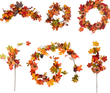 amazon factory home decor christmas artificial autumn leaves wreath