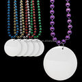 2.5 Inches Plastic Medallions for Mardi Gras Bead Necklace